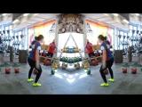 Ksenia Dedyukhina - 32 kg kettlebell snatch warm-up.mp4