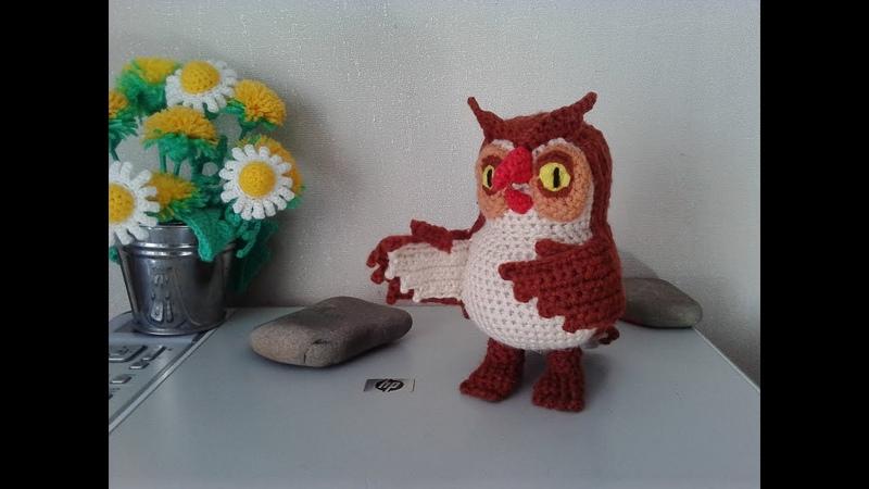 Сова из Винни Пух, ч.2. Owl from the Winnie the Pooh, р.2. Amigurumi. Crochet. Амигуруми.