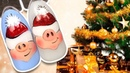 🐷 Новогодняя Свинка для Праздничного Маникюра 🐷 Новогодний Дизайн Ногтей Гель лаком Простой МК