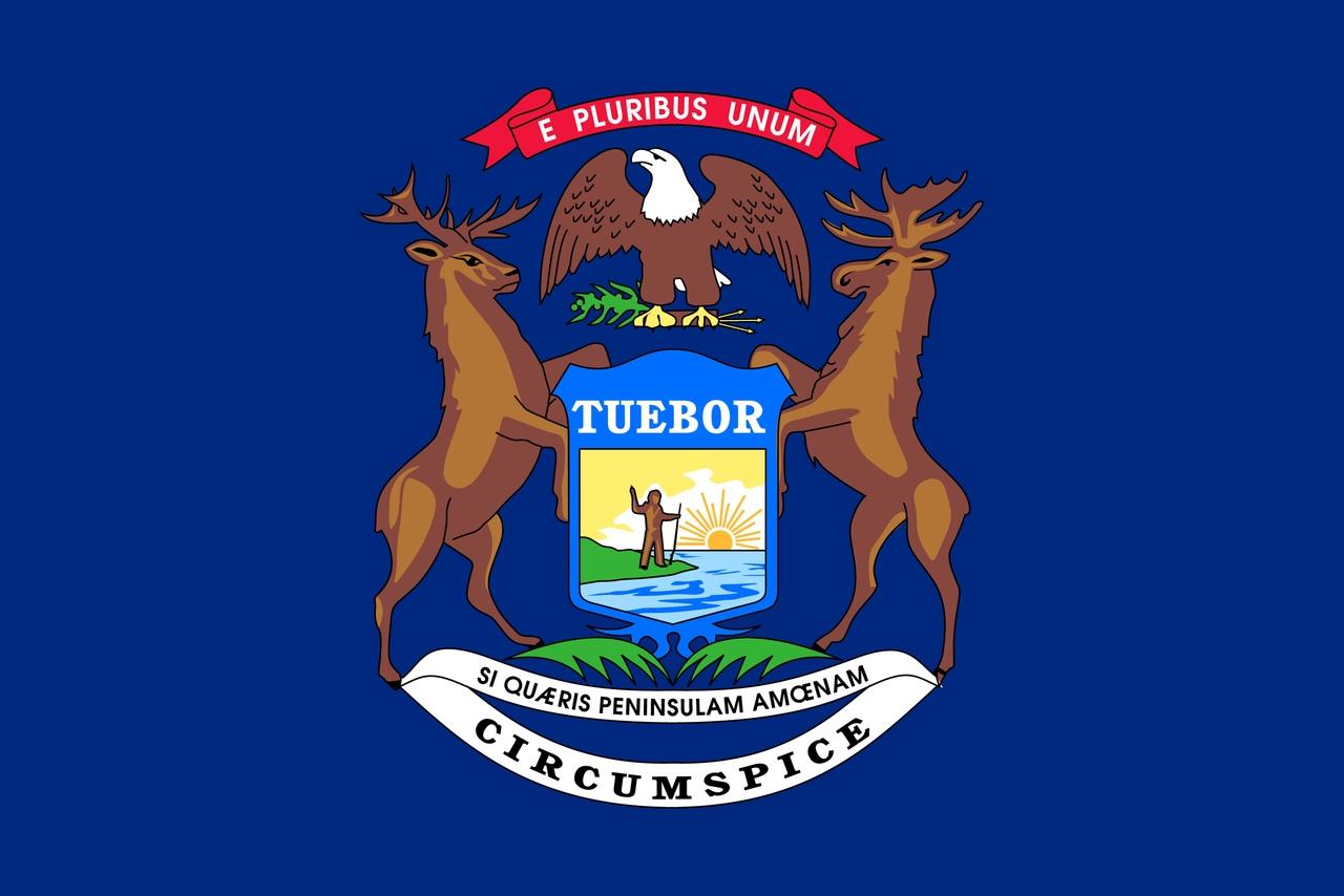Флаг Мичиган
