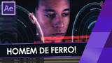 Como fazer o HUD (interface) DENTRO DA ARMADURA do HOMEM DE FERRO no AFTER EFFECTS!