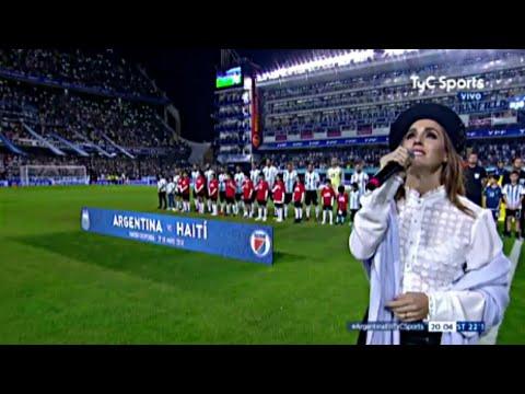El himno ARGENTINO en la BOMBONERA vs Haiti