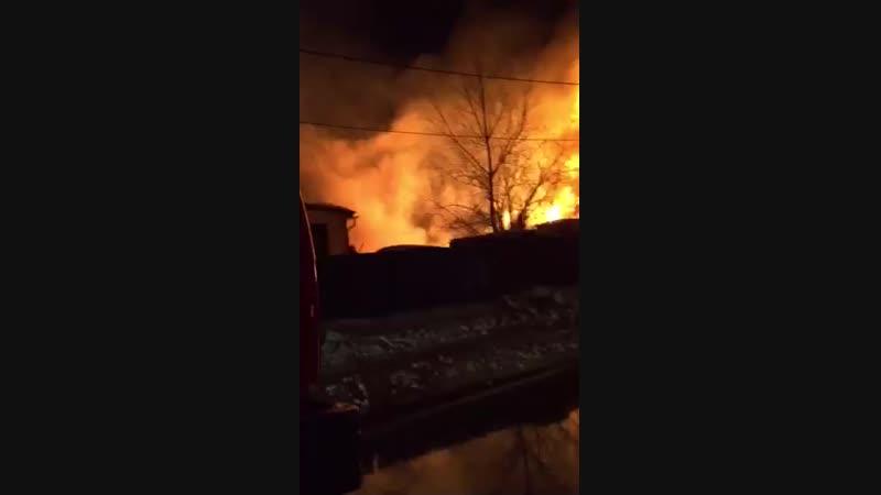 Пожар на улице Кирова Самарово ханты мансийск