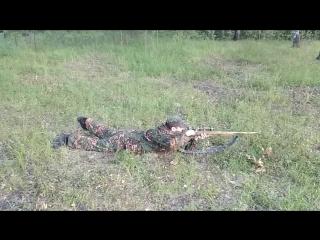 Взвод спринговой винтовки лёжа