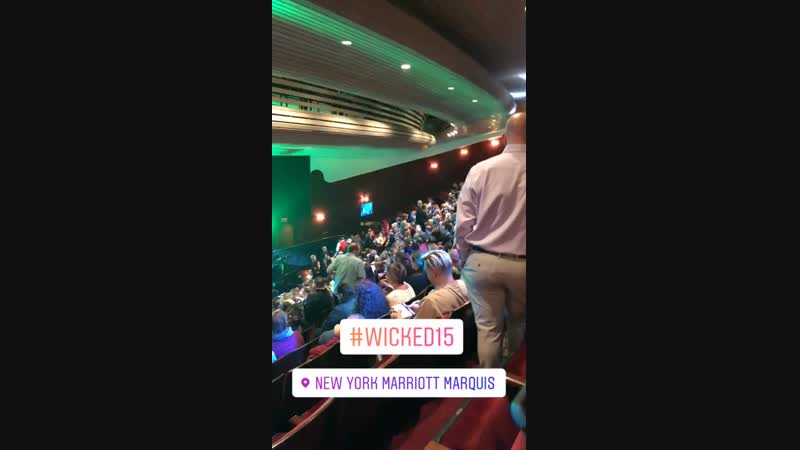 VIDEO from alyssamarienyinstagram stories The stage A Very Wicked HalloweenWicked15