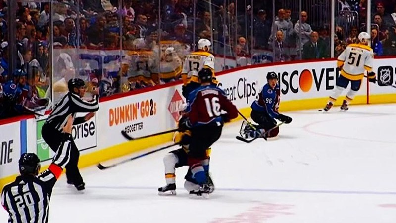 Zadorov hits down-and-out Ellis receives 10-min misconduct