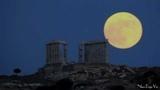 Nikos Deja Vu - Moonrise at Cape Sounion, Greece