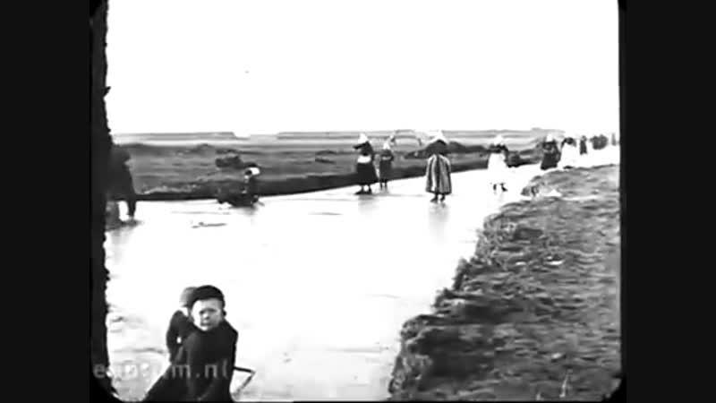 Голландия зимой 1917 года. Видео восстановлено в Нидерландском институте кино EYE.