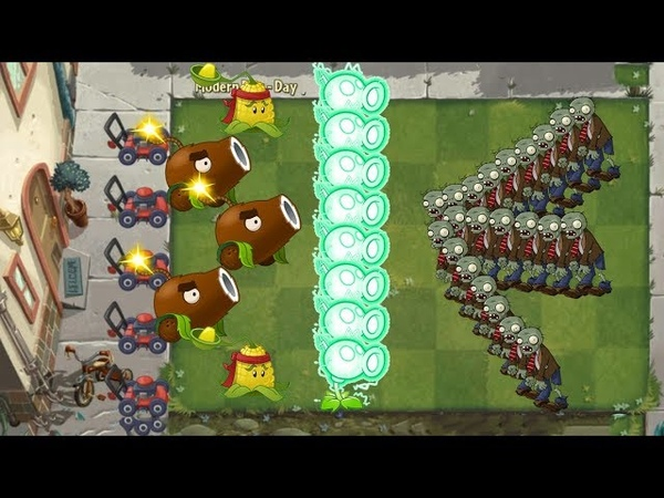 Pvz 2 - Electric Peashooter, Coconut Cannon and Kernel Pult