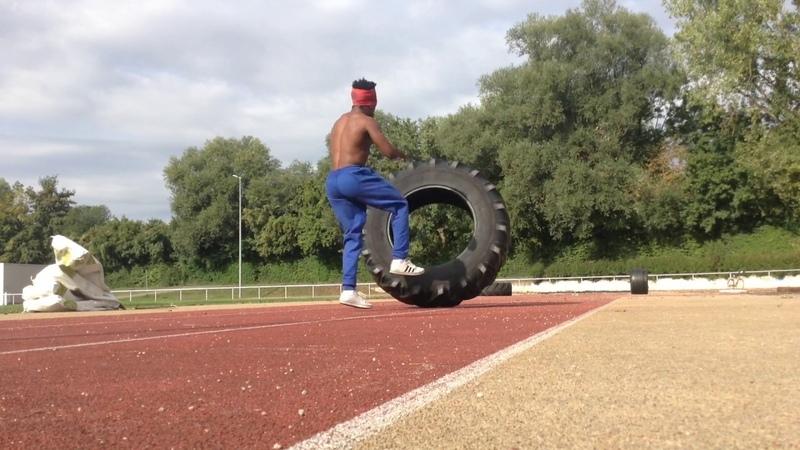 Gugu Quilombola 2 Level medium training Tractor Tire - treino com pneu de trator pra Capoeira