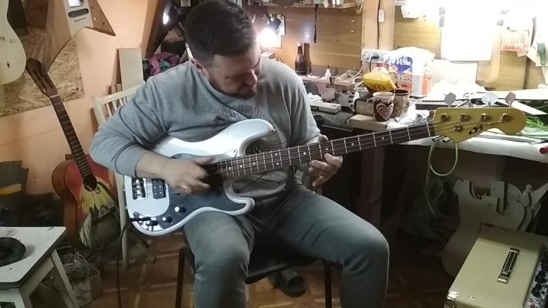 Asanovich P Bass with Delano pb pickup