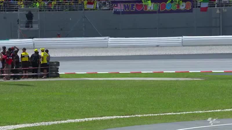 Rossi explains his Turn 1 crash in Sepang