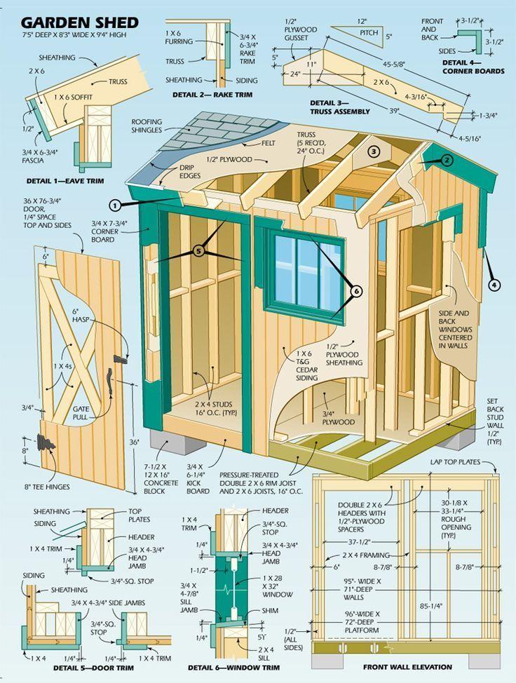 Несколько интересных схем построек для сада и дачи.