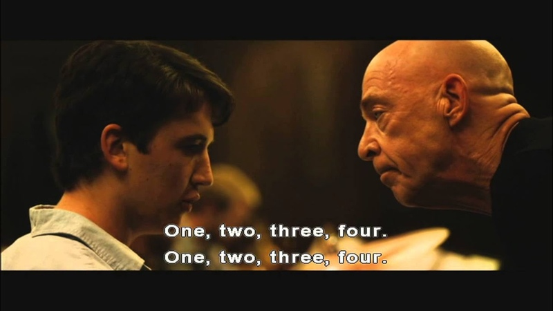 Whiplash - were you rushing or were you dragging scene
