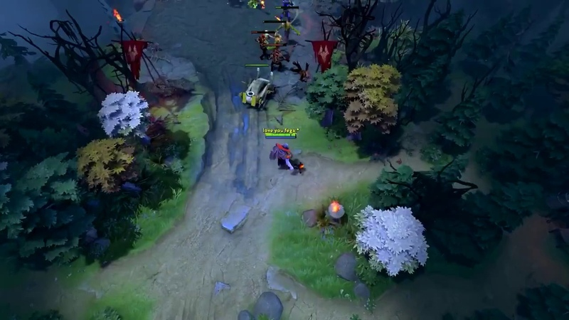 Dota 2 Daily WTF - Duel Chicken VS Frog