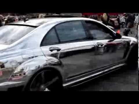 LORINSER Mercedes Benz S65 W221 хромированная пленка.