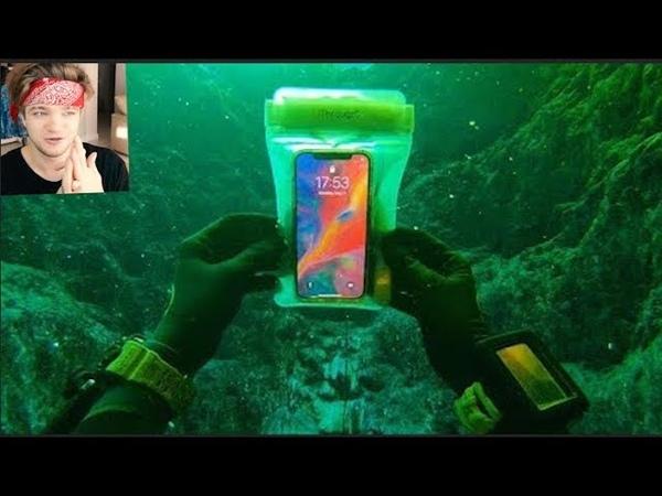 НАШЁЛ РАБОЧИЙ iPhone X под водой в реке! (Отдали Iphone его владельцу)