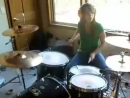 Katie Cole - Blink182 first date drum cover