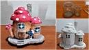 DIY a Fairy Mushroom House with Lamp using Jars