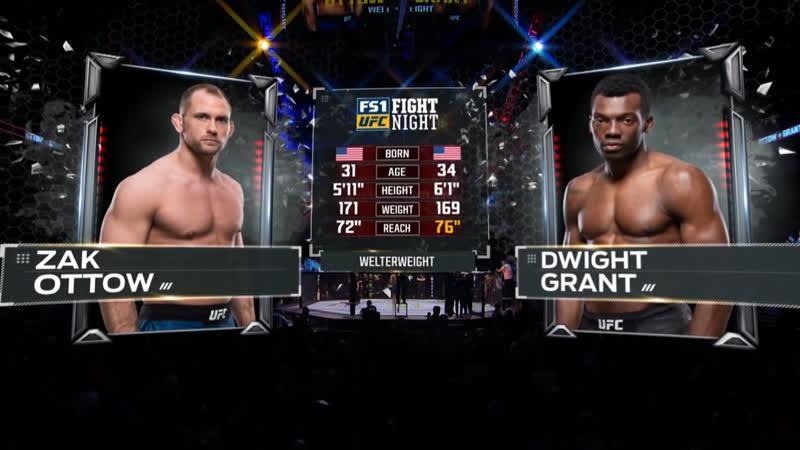 UFC FOX 31 Зак Оттоу — Дуайт Грант