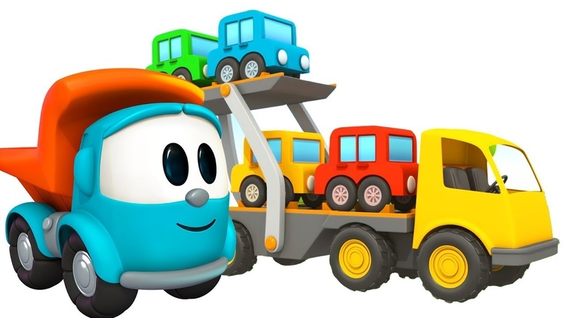 Leo the Truck and the Car Trailer A Cartoon for Children