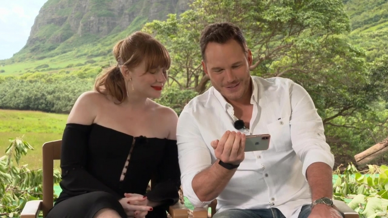 JURASSIC WORLD_ FALLEN KINGDOM interview with Chris Pratt and Bryce Dallas Howard (unedited)