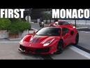 FIRST Ferrari 488 PISTA in MONACO, driven by CHARLES LECLERC!