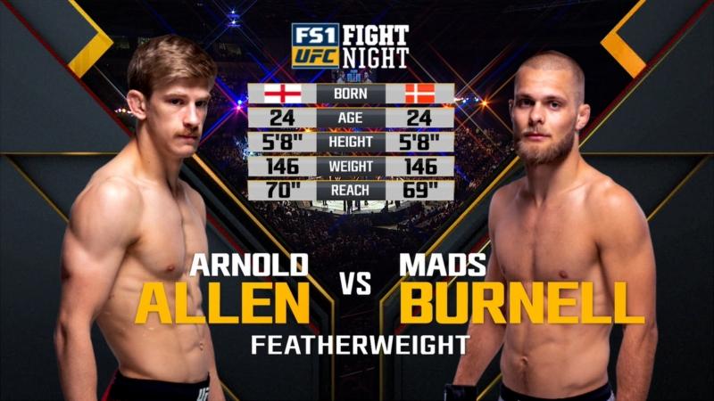 UFC FN 130 Arnold Allen vs Mads Burnell