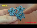 49' TUTORIAL FACILE ORECCHINI PERLINE CHIACCHIERINO AD AGO EARRINGS NEEDLE TATTING FRIVOLITE'