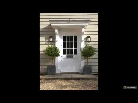 Как сделать козырек над крыльцом: 61 красивый вход