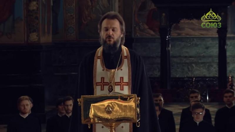 Совершение вечернего правила архепископом Амвросием Ермаковым
