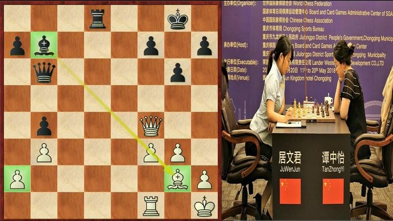 Шахматы. Матч за звание чемпионки мира по шахматам 2018! (Тань Чжунъи- Цзюй Вэньцзюнь)- 6-я партия