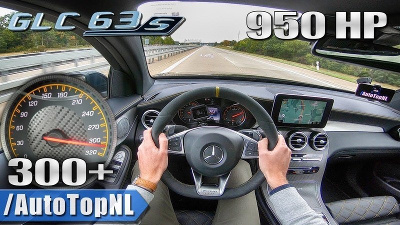 950HP MERCEDES GLC 63 S AMG GAD Motors 300 km h AUTOBAHN POV by AutoTopNL