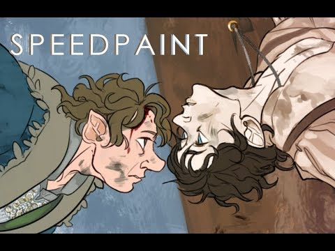 【SPEEDPAINT】 Bilbo and Frodo Bagginses (Lord of the Rings)
