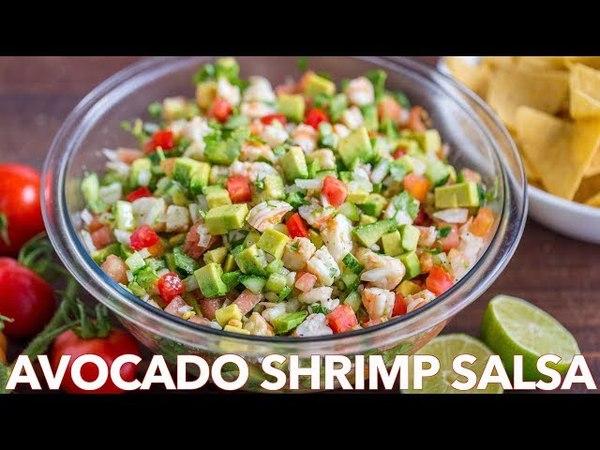 Loaded Avocado Shrimp Salsa Recipe - Natasha's Kitchen