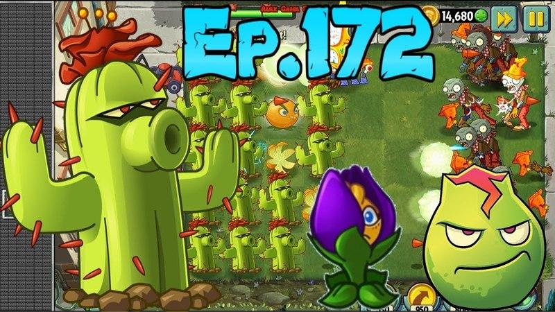 Plants vs. Zombies 2 - Premium Plants - Lava Guava, Cactus, Shrinling Violet    Quest (Ep.172)