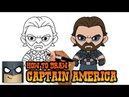How to Draw Captain America Infinity War Art Tutorial