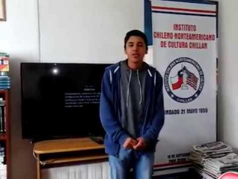 Student5 Access Microscholarship program Instituto Chileno Norteamericano de Cultura Chillán Chile