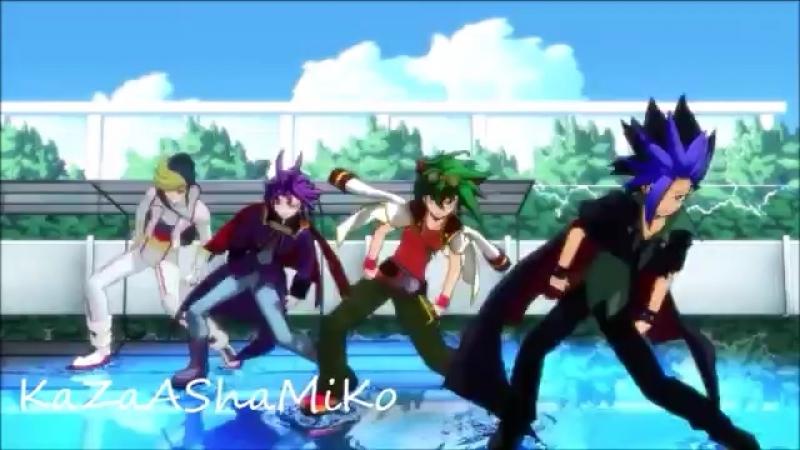 MMD Yu-Gi-Oh! Arc-V - SPLASH FREE KaZa ASha MiKo