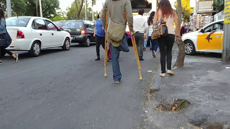 RAK with wooden crutches
