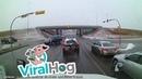 SUV Loses Control and Careens Down Embankment || ViralHog