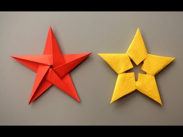 ABC TV | How To Make Paper Star Christmas Ornament - Origami Craft Tutorial
