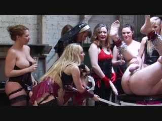 Sevendommes - seven dommes throw a strap-on gangbang party