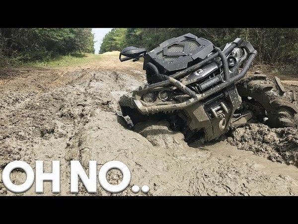 2017 CANAM OUTLANDER 1000 XMR GETS STUCK IN SOME DEEP MUD! (ATV ADVENTURE PARK VLOG)