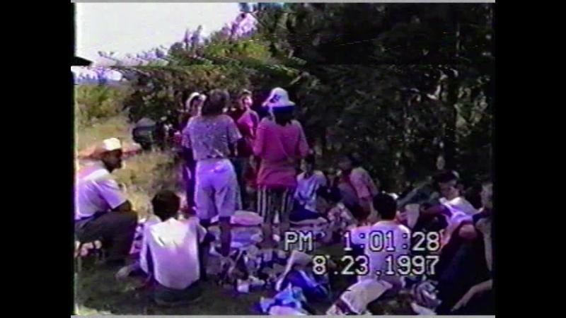 23 августа 1997г. Пение молодежи на отдыхе. г Феодосия