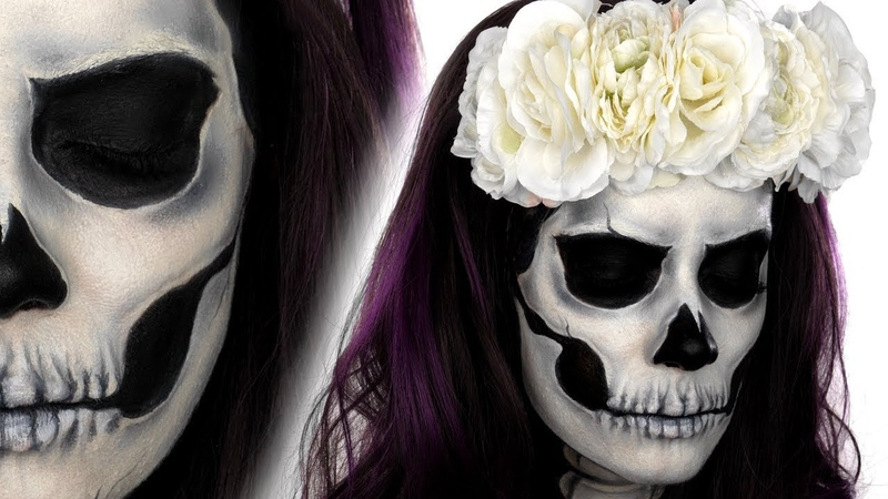 Skull Face Paint Tutorial | Halloween Makeup Tutorial | Snazaroo | Shonagh Scott | Sponsored