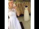 Лайк♥️ Свадебное платьице ждёт свою принцессу, идеальная посадка, кружево с пайетками, можно надеть как с кринолином, так и без👸