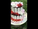 Фруктовый торт с элементами Платья