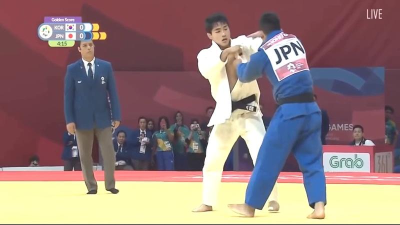 자카르타 아시안게임 유도 개인전 -73kg 결승 편집본 안창림 VS 오노 쇼헤이