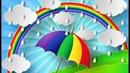 Кап-кап веселый дождик - Детская песенка и мультик для самых маленьких